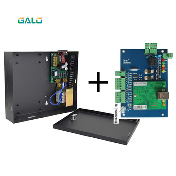 PCB 1 2 4 gate door lock Access Controller board with TCP/IP port with cabinet and power supply box