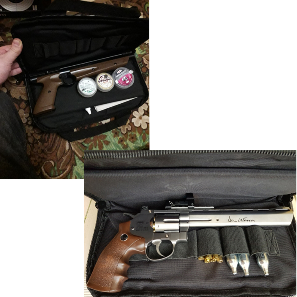pistola de mão saco arma tapete ao