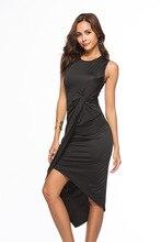 Элегантный темперамент жилет платье нерегулярные плиссированные комплект талии пакет хип сплошной