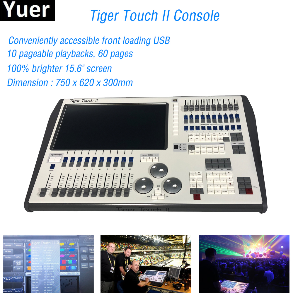 Flightcase Pack DJ Equipment Tiger Touch II Stage Effect Light Console For DJ Disco DMX Controller Beam Spot Wash Moving Head chauvet dj jam pack diamond