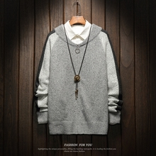 Christmas Men Sweaters Winter Clothes 2019 Plus Size Asian M-4XL 5XL 6XL Japan Style Casual Standard Designer  Pullovers afc asian cup 2019 japan turkmenistan