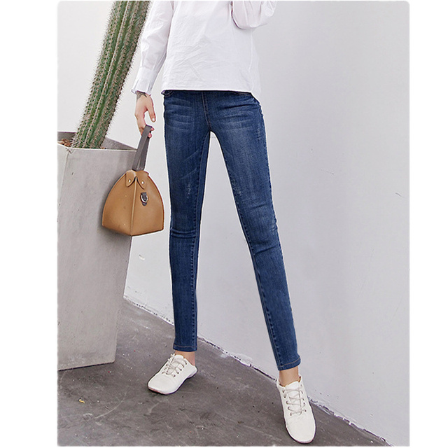 8305fb7dc3c90 New spring autumn Maternity skinny Jeans clothes for pregnant women  trousers maternity pants pregnancy pant