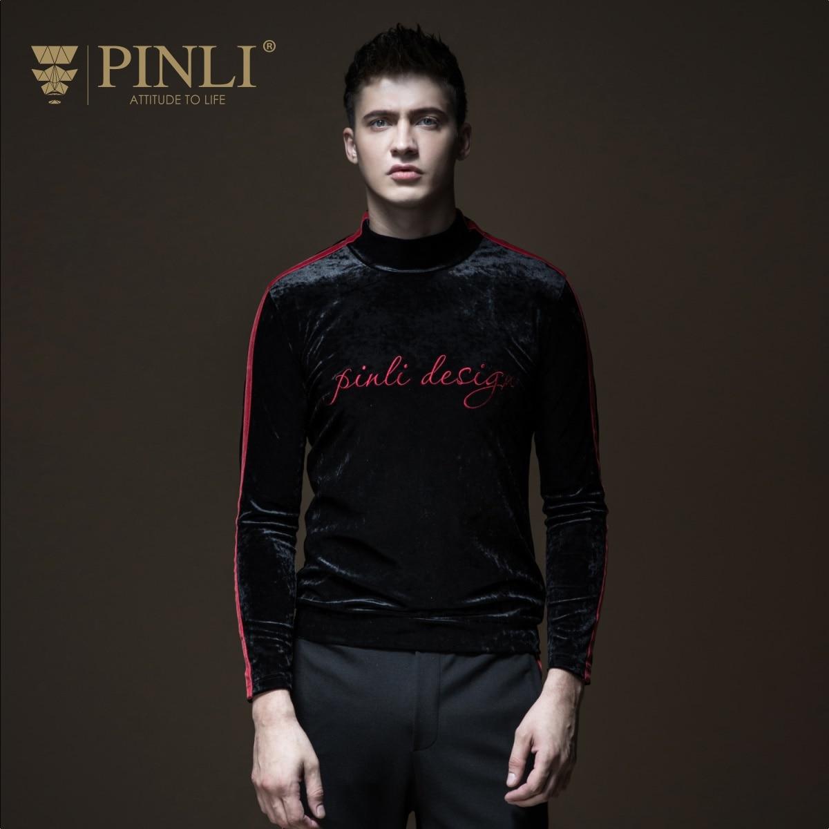 Palace jeu de trône de trône sous-conte Pinli Pin Li nouveau Style hommes col, ruban de velours, T-shirt à manches longues B183211441
