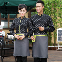 Hotel Uniform Characteristics Autumn Winter Hot Pot Shop Restaurant Waiter Work Wear Long Sleeve Women Suit Unisex Waitress J026