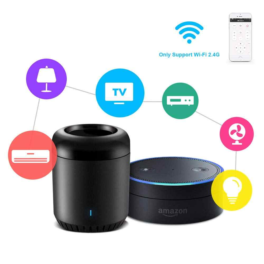 Smart Home Broadlink RM Mini3 4 Bestcon RM4C Mini Wifi + IR Remote Wireless Controller Cocok Alexa Echo Google Home asisten