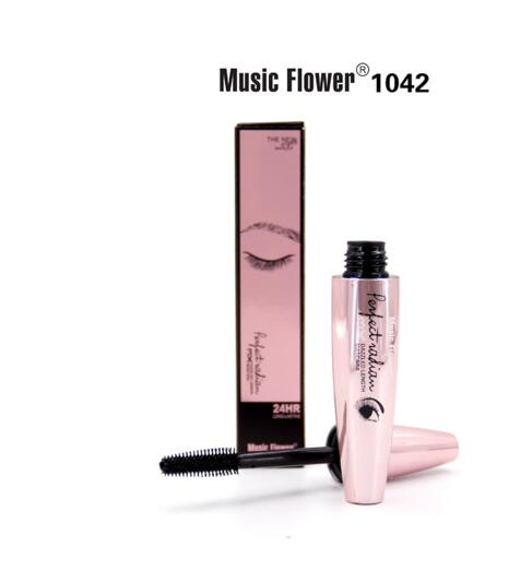 Music Flower Volume Glamour Eye Make Up Thick Long Lasting mudge-proof dazzled length Curling Mascara Makeup image