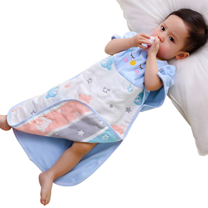 Baby Sleeping Bag Sleepwear Blanket Sleeper for Newborn Infant Toddler Kids Boys Girls Breathable Cotton Robes 0-6 Years
