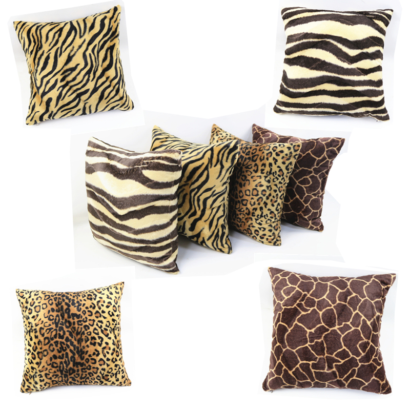 Leopard Printed sofa <font><b>cushion</b></font> <font><b>cover</b></font> 40x40/45x45/<font><b>50x50</b></font>/55x55/60x60/65x65/70x70cm throw pillow <font><b>cover</b></font> decorative pillow case image