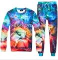 Gráficos galaxy espaço impresso 3D suor terno treino de basquete homens/mulheres corredores + hoodies plus size M-XXL Frete grátis
