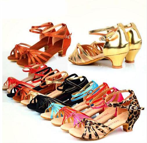 7c25c964c1d New 2017 Ladies Girl s Sandals Low Heel Satin Leatherette Buckle  Latin Ballroom Salsa Dance Shoes For Women Wholesale