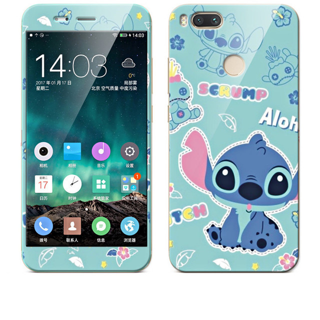 premium selection 92a5a cf2de US $4.22 6% OFF|xiaomi mi A1 Case 360 Degree Protective TPU Cover+Color  integrated tempered glass Case For xiaomi mi A1 5x mi5x brand #3088-in  Fitted ...