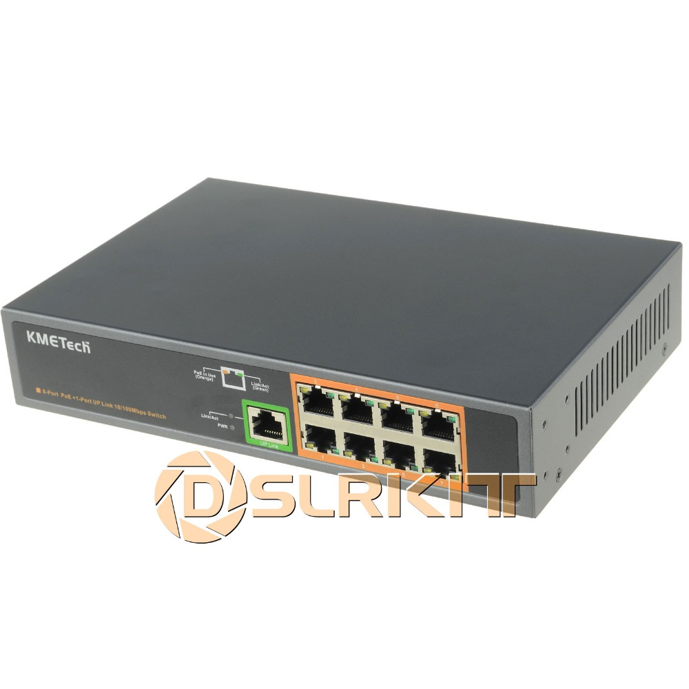 (New Listing) 9 Ports 8 PoE Switch 130Watt Power Over Ethernet IEEE802.3at/af for IP Camera