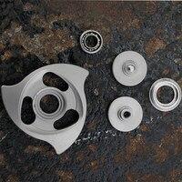 FEGVE Mirror Fidget Spinner Hand Spinner Finger Spinner Metal Stainless Steel EDC R188 Ceramic Bearings Handspinner