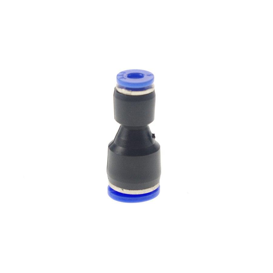 Conector Reductor De Empuje Montaje Neumático Recto Manguera De Aire De 8 Mm a 4 mm