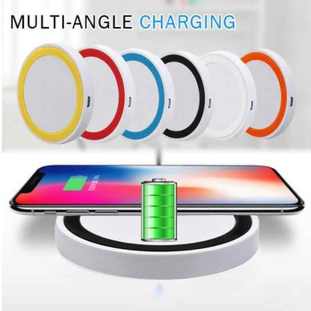 9mm Thickness LED Indicator Light Mini Wireless USB Quick Charger Anti-slip Silicone Base Pad