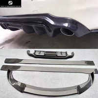 Q50 fibra de carbono divisor de labios delantero difusor trasero faldas laterales para Infiniti Q50 kit de carrocería de coche 2014-2016