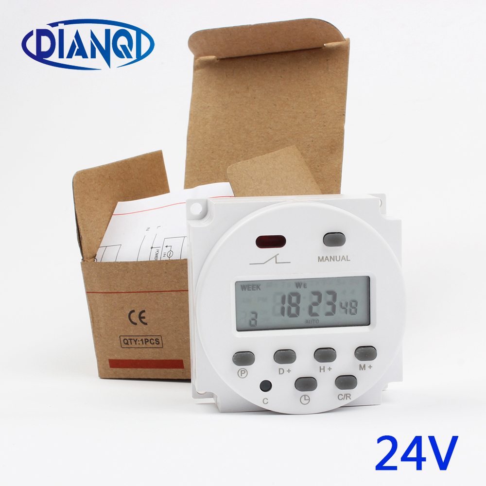 CN101A 24V Digital LCD Power Timer Programmable Time Switch Relay 8A TO 16A CN101 TIMER weekly timer stable timers weekly manhua weekly programmable 220vac 25a electrical school bell timer 68 on duration 1 99 seconds program with lcd display ms316b
