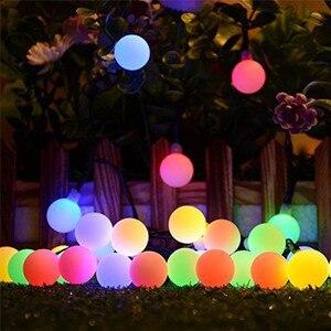 Image 1 - 10M 100 LED lampy słoneczne girlanda żarówkowa LED lampki Garland boże narodzenie lampy słoneczne na ślub dekoracja na przyjęcie ogrodowe na zewnątrz