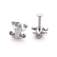 Кольцо для губ кольцо пирсинга ювелирное изделие в форме лягушки