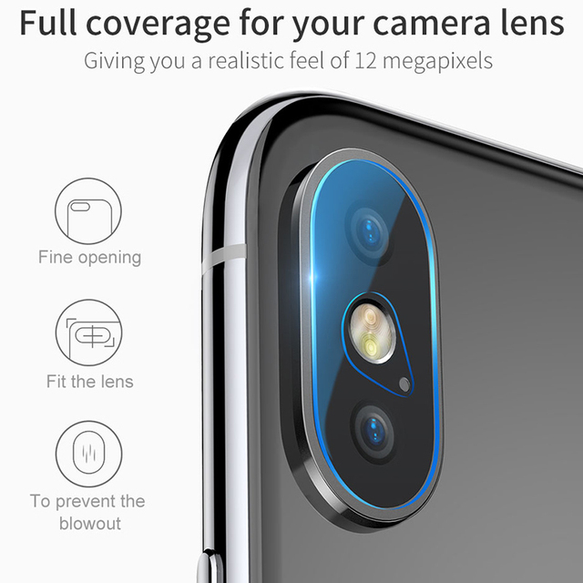 Baseus iphone X XS XS Max Back Camera Lens Tempered Glass Protector