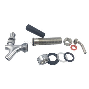 Image 5 - 92.5mm Chrome Dispense Draft Beer Faucet Shank Us style with long shank Combo Kit Kegerator Tap Home brewing