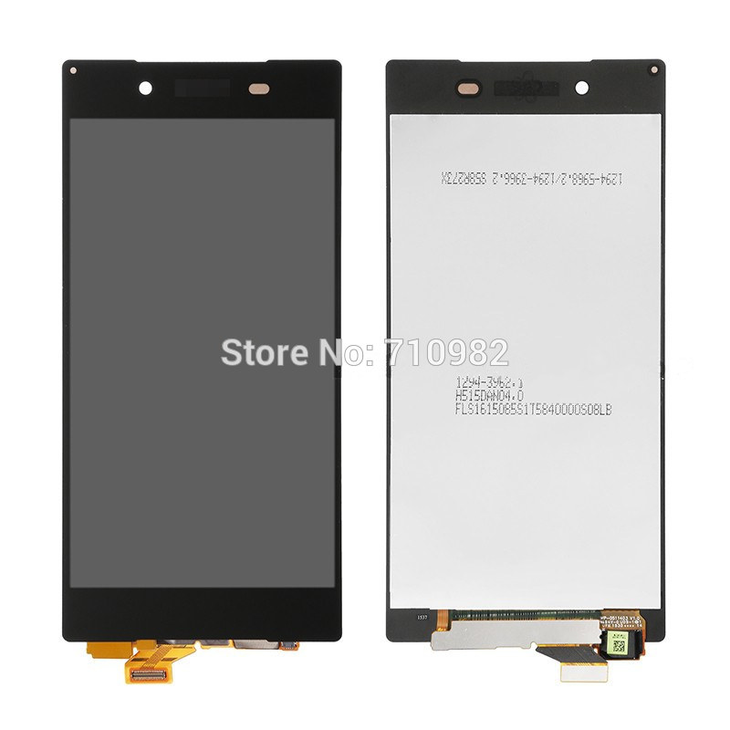 HK Free shipping LCD Display + Touch Screen Digitizer Assembly For Sony Xperia Z5 Lcd E6683 E6653 E6603 5.2 inch White&Black