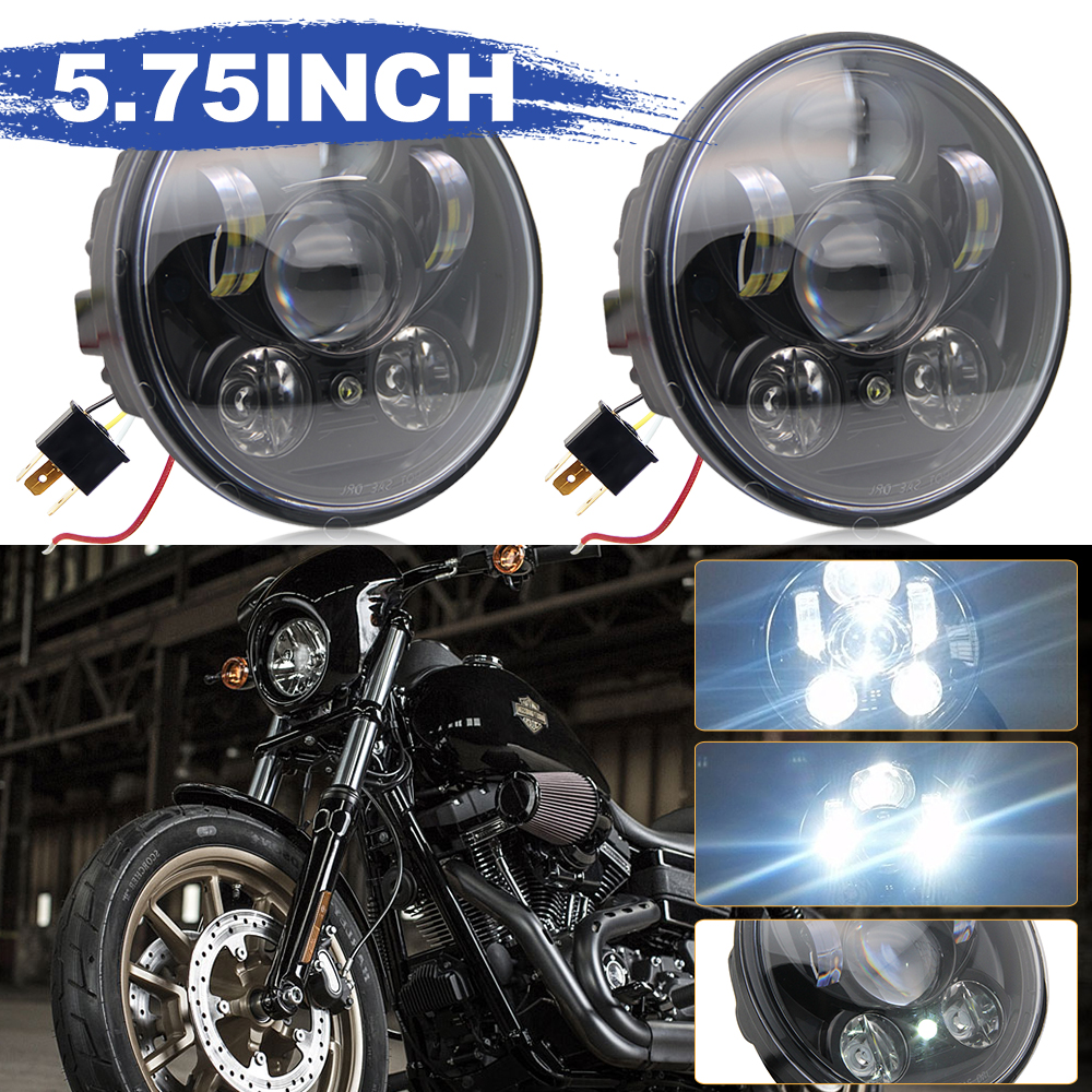 CO LIGHT 5.75Inch Led Moto Headlight 40W High Low Beam for Harley Davidsion Motorbike Accessories Motorcycle Headlight 12V 24V