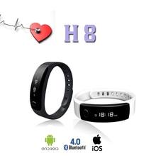 H8 Gama Profesional De Deportes Pulsera Pulsera Inteligente Bluetooth Podómetro Paso Calorie Count Inteligente Monitor de Sueño Blanco