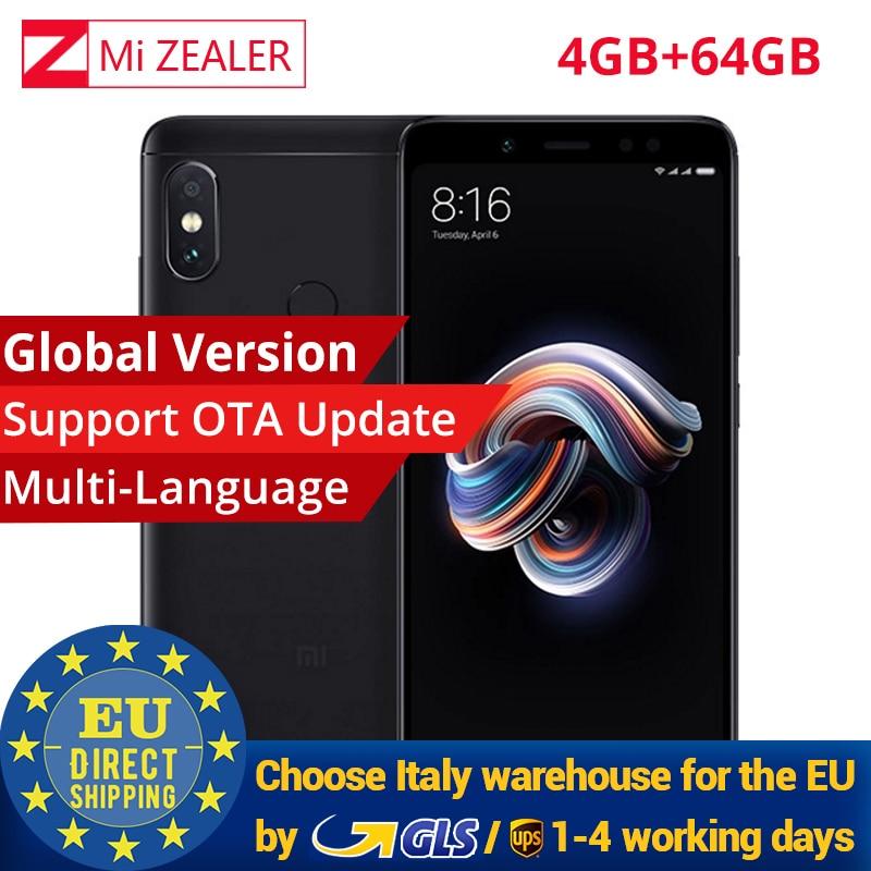 Global Version Original Xiaomi Redmi Note 5 4gb 64gb Mobile Smartphone Snapdragon 636 Octa Core 2160x1080 5.99 Inch 4000mah