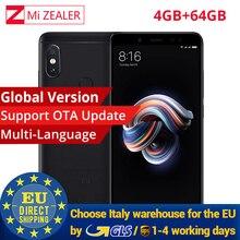 Küresel Sürüm Orijinal Xiaomi Redmi Not 5 4 GB 64 GB Cep Smartphone Snapdragon 636 Octa Çekirdek 2160x1080 5.99 Inç 4000 mAh