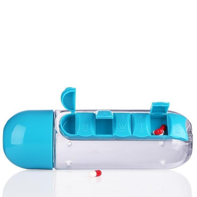7 Days Pill Tablet Medicine Daily Organizer Water Bottle Cycling With Pill Case Free Shipping 1