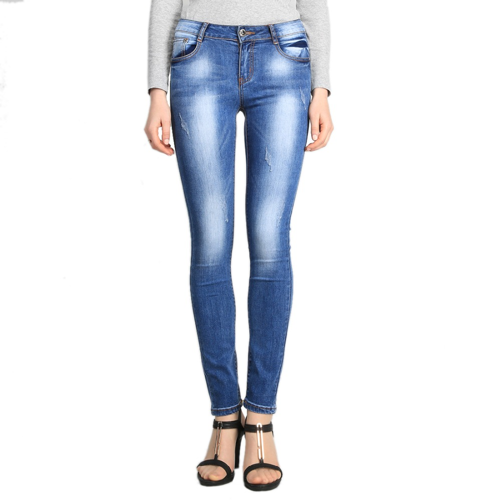 SheXiang Mrs 2016 Spring Lady's High Waist Jeans Stretch Skinny Denim Pants Women Slim Jeans Washed Feminino Feminina Plus Size