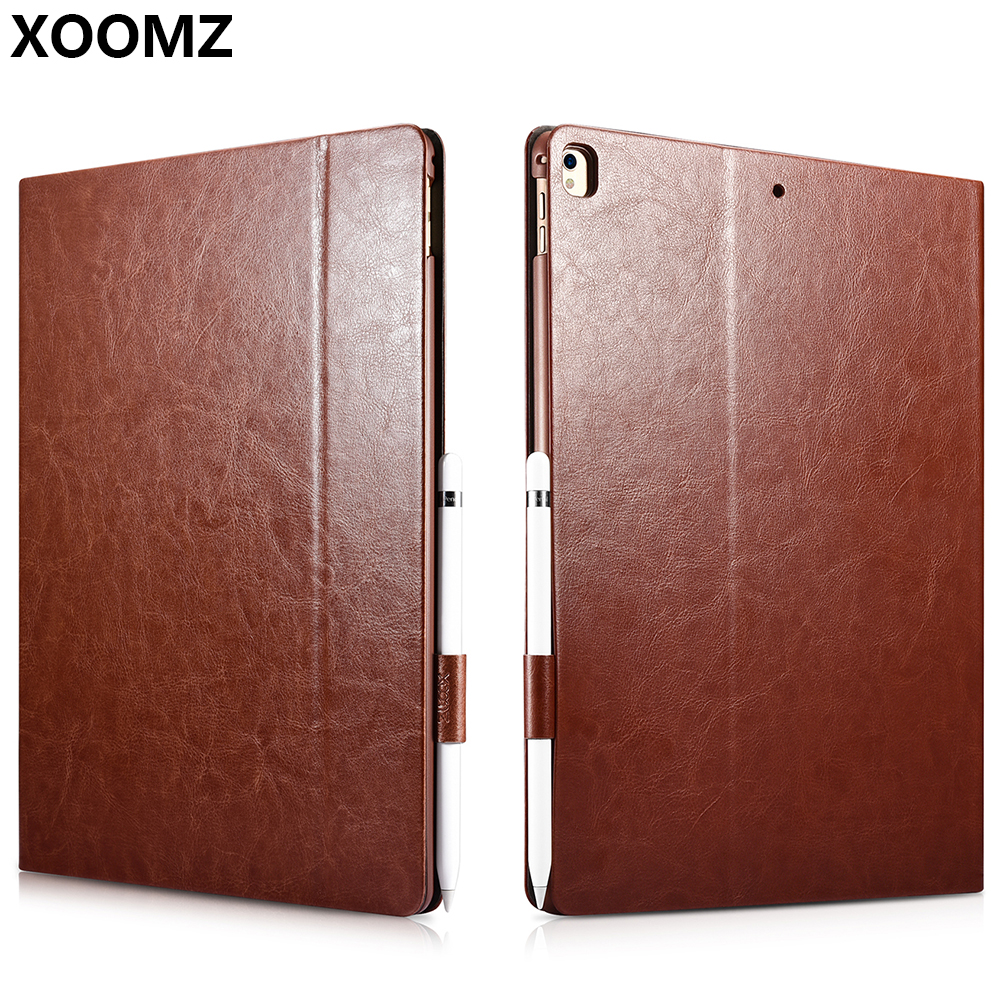 XOOMZ pour iPad Pro 12.9 2017 housse de luxe en cuir PU antichoc en plastique magnétique étui à rabat intelligent pour iPad Pro 12.9