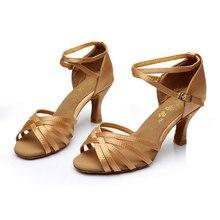 Nouveau Femmes Adultes Salle De Bal Partie De Danse Latine Chaussures À Talons Hauts 5 cm/7 cm Tango Salsa Chaussures De Danse Intérieure Talons