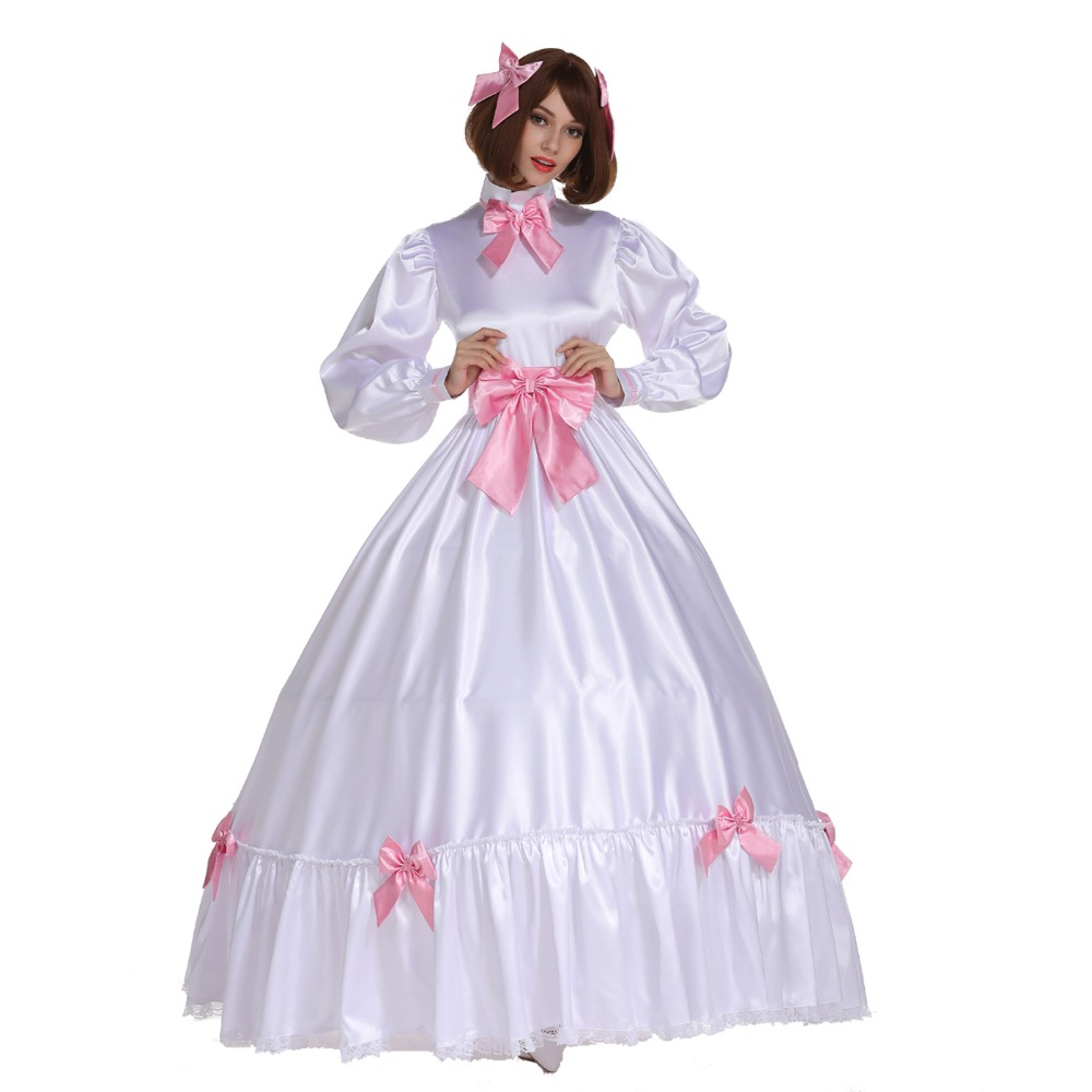 Sissy Girl Gothic Ball Gown Lovely Stain Bow Long Dress Uniform ...