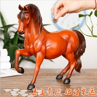 Creative horse piggy bank resin hand painted safety coin box large capacity home decoration children's savings box free shipping