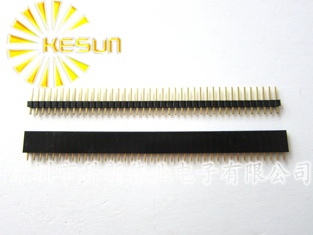 3x 2.54mm white Single Row Male 1X40 Pin Header Strip Gold-plated ROHS