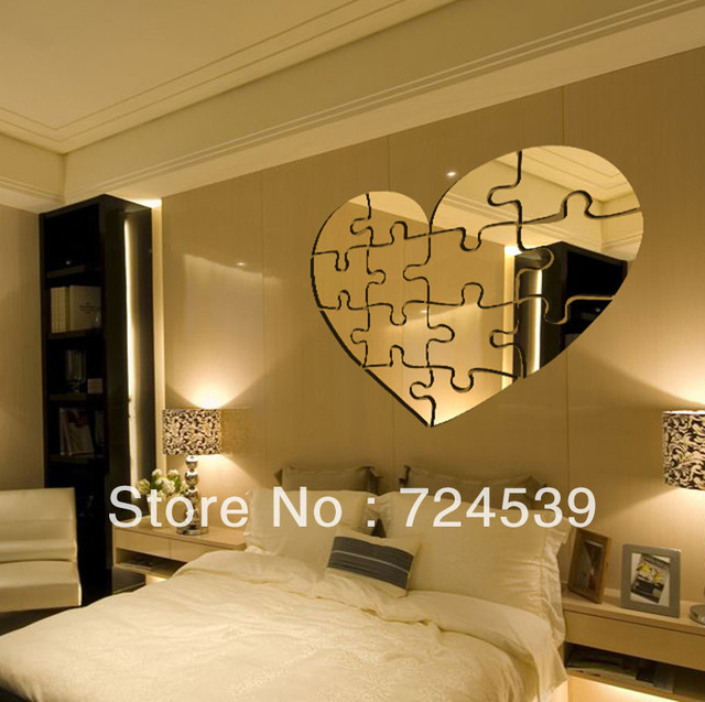 Free shipping!New arrival personalized DIY puzzle mirror wall ...