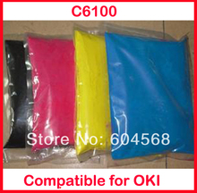 High quality color toner powder compatible for OKI C6100/6100 Free shipping
