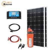 Boguang 200 Вт солнечной системы комплект 2*100 Вт солнечной panle 150 Вт насос DC 12 В/24 в/20A контроллер для сельскохозяйственного орошения насосная