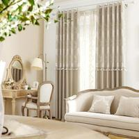 New Arrival Velvet Curtains Simply European Style Luxury Floral Curtains With Exquisite Pompons For Living Room