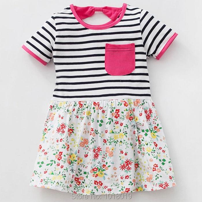 New 2018 Quality Brand 100% Cotton Baby Girls Dress Children Clothing Kids Dress For Girls Summer Beach Dress Baby Girls Clothes 2018 girls dress 100