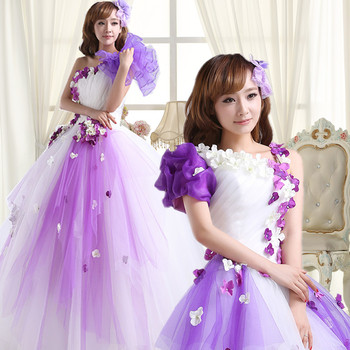 Fast Shipping 2019 Purple Quinceanera Dresses Organza One Shoulder Party Gowns sukienka quinceanera