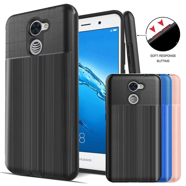 US $3 99 |SuaGet Case For Huawei Y7 Prime/Ascend XT2/Elate 4G Silicone  Shockproof Rugged Rubber PC Phone Cover Shell Ascend XT 2 H1711-in Fitted  Cases