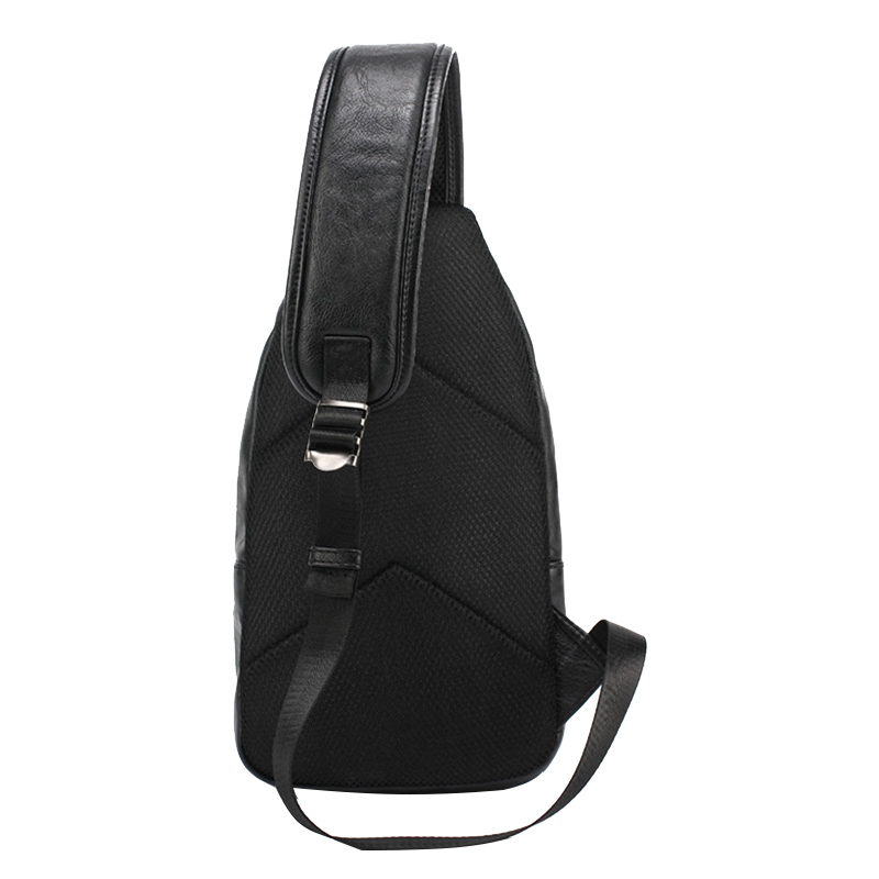 648d58d5398c Water Proof PU Leather Soft Mens Chest Bag Hot Selling Europe Style Cross  Body Phone Purse Solid Vintage Black Zipper Male Bags-in Crossbody Bags from  ...