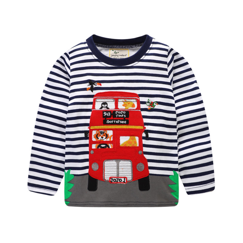 Jumping meters new designed boys long sleeve t shirts kids striped cartoon spring autumn t shirt top quality baby boys t shirts ...