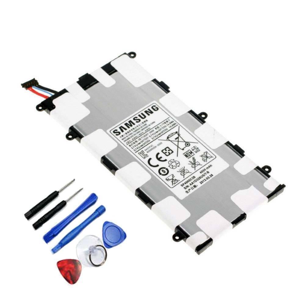 imágenes para Original del 100% genuino para samsung tab 2 7.0 p6200 p3100 p3110 de la tableta batería de reemplazo 4000 mah batería + herramienta + número de pista