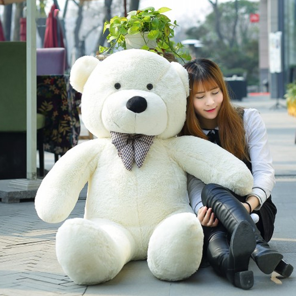140CM To 200CM Cheap Giant Unstuffed Empty Teddy Bear Bearskin Coat Soft Big Skin Shell Semi-finished Plush Toys Soft Kid Doll