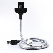 Sindvor ленивый гибкий кабель USB Стенд кабель для передачи данных автомобильное Зарядное устройство Держатель для iphone6, iphone6s, iphone7 Plus 5 samsung sony Тип C Android телефон
