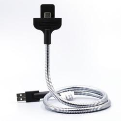 Sindvor Lazy Flexible USB Cable de datos soporte de cargador de coche para iPhone 6 6S 7 Plus 5 Samsung Sony tipo C teléfono Android